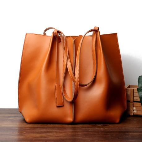 Tan Soft Leather Tote Large Real Leather Shopper Bags
