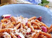 Pasta lenticchie rosse ravanelli arrosto pecorino alla castagna
