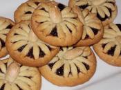 Biscotti intrecciati marmellata more