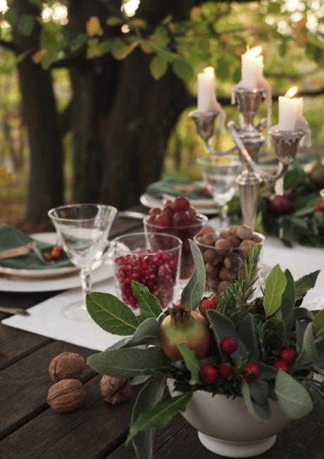 La tavola delle feste in stile naturale