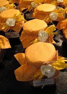 Giallo e Arancio per le bomboniere BIO