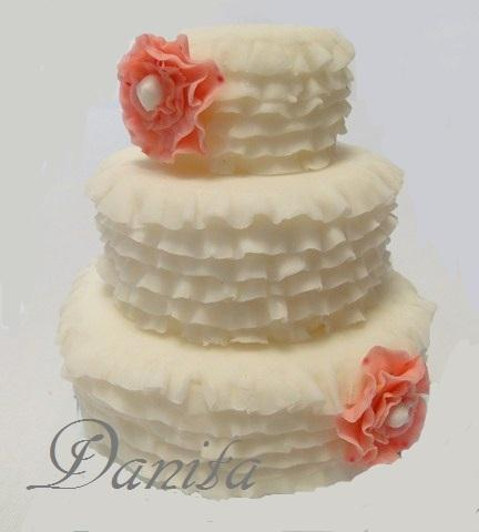 Mini wedding cake romantici