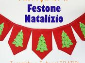 Festone natalizio template gratis!