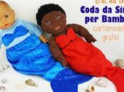 Cartamodello gratis coda sirena bambole
