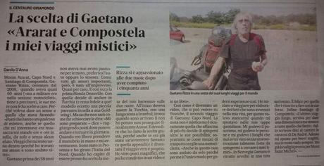 Sul Secolo XIX di Genova i viaggi in moto, in solitaria di Gaetano Rizza
