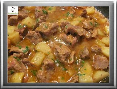 Agglassato (Aggrassatu) di carne con le patate