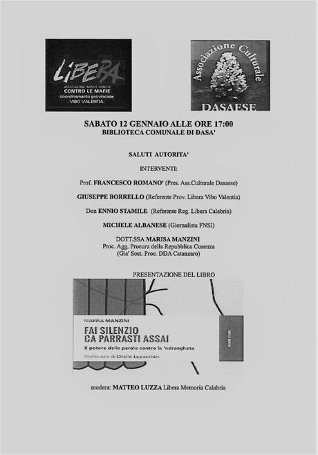 """Presentazione libro """"Fai silenzio ca parrasti assai"""" di Marisa Manzini"""