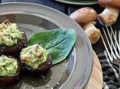 Ricetta facilissima: funghi ripieni ricotta spinaci