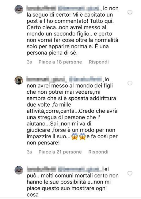 Annalisa Minetti, insulti sul social: 'Sei cieca, non dovevi fare un altro figlio'