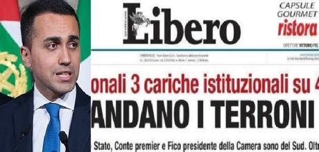 """Di Maio contro Libero: """"Finanziato con soldi pubblici, anche dei terroni"""""""