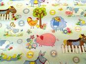 Tessuto l'infanzia disegno animali