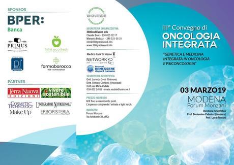 3° Convegno di Oncologia Integrata, 3 Marzo 2019 – Modena