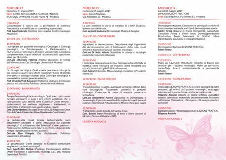 Oncoestetica – corso di 5 giornate a Modena
