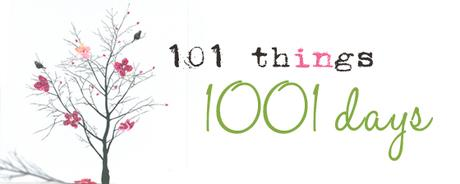 101 things in 1001 days (nuova