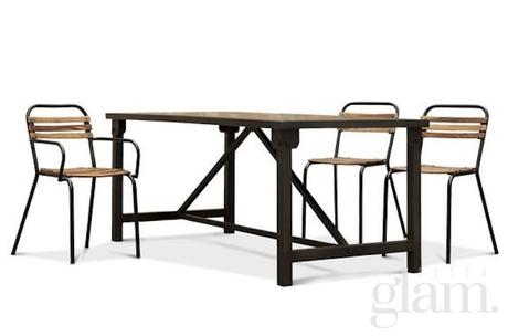 Arredamento industriale in casa: cassettiera, tavolo, sedia e?