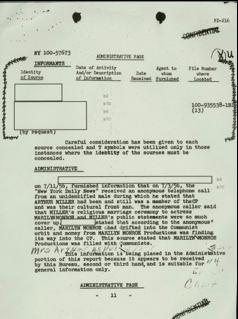 I sospetti dell'FBI su Marylin Monroe
