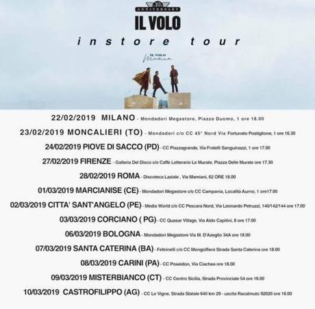 """Instore Tour per """"Musica"""" il nuovo album de Il Volo"""