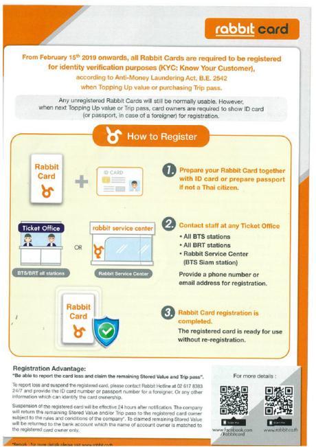 Rabbit card, riciclaggio del denaro e passaporto: nuove regole per il pagamento dei mezzi di trasporto di Bangkok