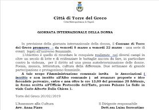 Torre Del Greco: le Associazioni protagoniste degli eventi per la festa della donna.