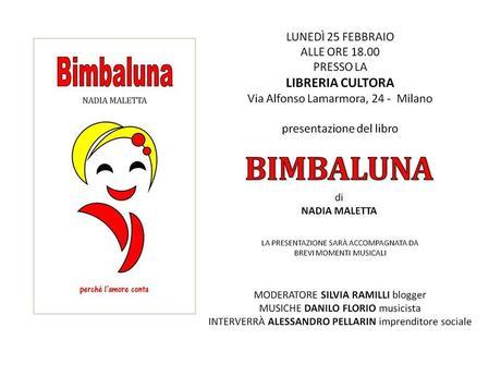 """PRESENTAZIONE """"BIMBALUNA"""" – LIBRERIA CULTORA MILANO"""