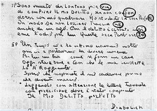 DIABOLICH, L'ASSASSINO CHE SFIDO' TORINO.-Prima Parte.
