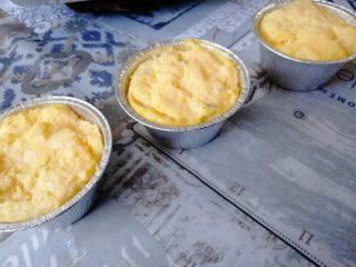 Tortini di polenta con crema al parmigiano