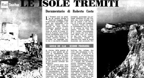 Isole Tremiti: documentario audio del 1954 di Roberto Costa