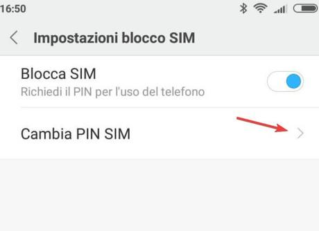 Come modificare il PIN della sim su Android