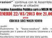 Proseguono assemblee pubbliche della lista Chiesina Uzzanese frazioni. Venerdì marzo appuntamento Molin Nuovo alle 21:00.