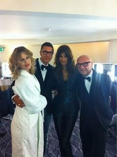 Dolce & Gabbana for Harper's Bazaar UK....Shooting in progress in London