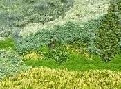 dipinto Gogh Vertical Green Wall