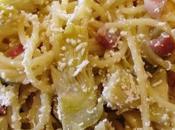 Spaghetti carciofi pancetta