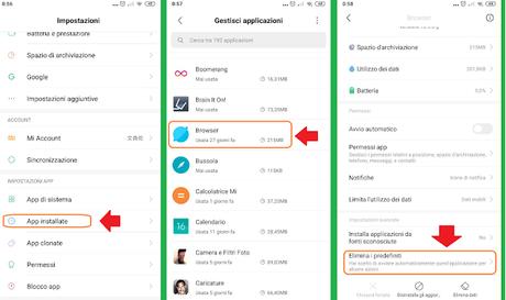 Come modificare un applicazione predefinita su Android