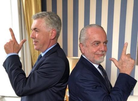 """De Laurentiis: """"Voglio Ancelotti a vita nel Napoli. Sarà il nostro Ferguson"""""""
