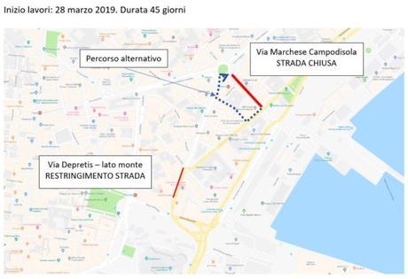 Napoli, lavori stradali in centro città: strade chiuse e percorsi alternativi