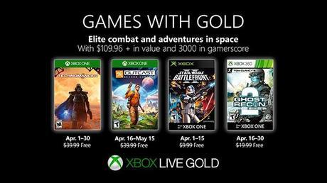 Games with Gold aprile 2019, ecco i giochi Xbox One gratis - Notizia