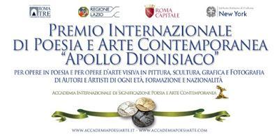 Il Premio Internazionale di Poesia e Arte Contemporanea Apollo dionisiaco 2019