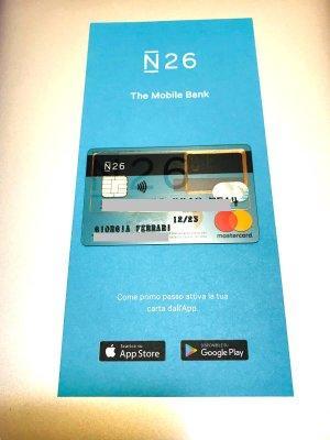 N26: un conto estero sotto forma di carta