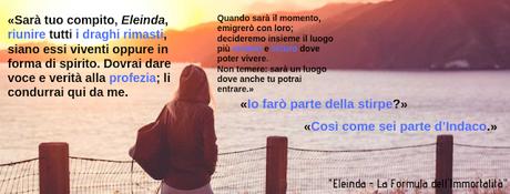 Segnalazione:  Eleinda La Formula dell'Immortalità di  Valentina Bellettini