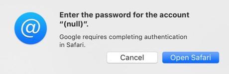 Problemi con Gmail e G Suite su macOS Mojave 10.14.4