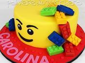 Lego cake: torta pasta zucchero tema compleanno bimba