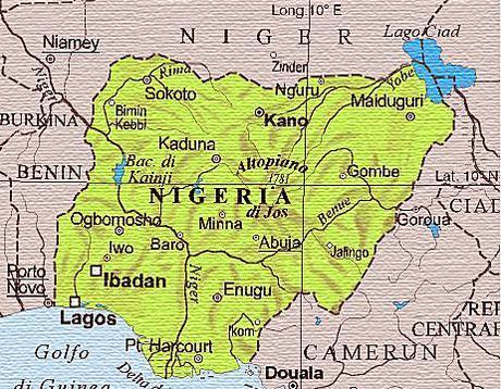 Risultati immagini per nigeria cartina