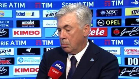 Carlo Ancelotti Napoli intervista sky