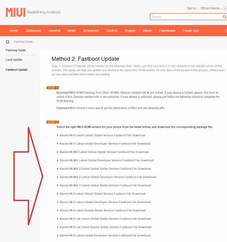 Come ripristinare la ROM dei dispositivi Xiaomi da FASTBOOT