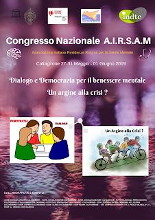 Caltagirone: Confronto sulla Salute Mentale Italiana dal 27 maggio al 01 Giugno 2019