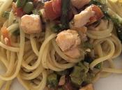 Linguine salmone asparagi