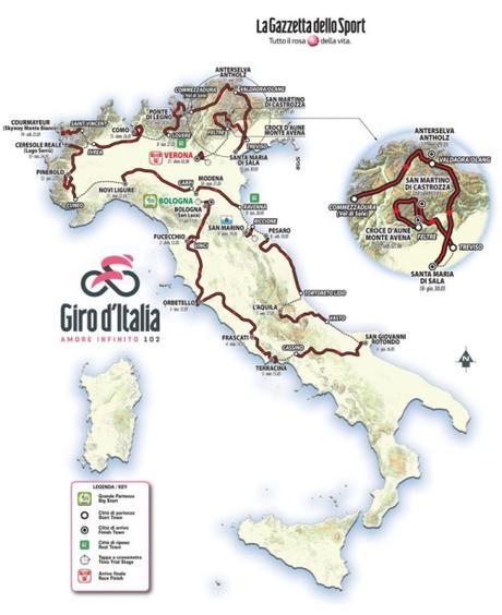 I partenti del Giro d'Italia 2019