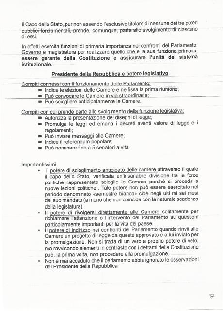 Cittadinanza e Costituzione: Appunti da stampare