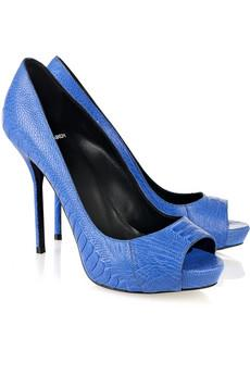 Inspired by eletric blue shoes!