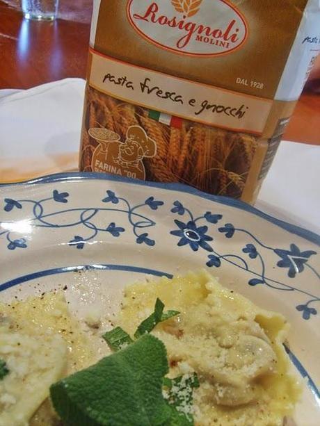 Champignon e gorgonzola:pasta fresca offerta da me e dai Molini Rosignoli!
